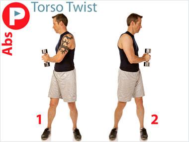 FitnessBuilder Torso Twist Dumbbell