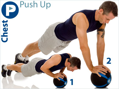 FitnessBuilder Push Up ( Medicine Ball )