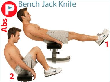 FitnessBuilder Bench Jack Knife