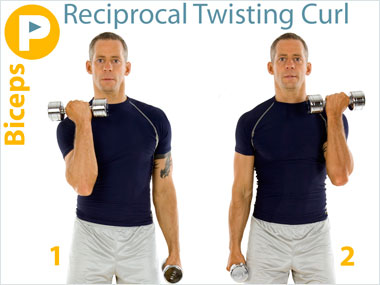 FitnessBuilder Reciprocal Twisting Curl