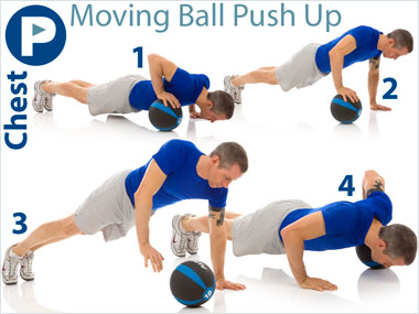 FitnessBuilder Moving Ball Push Up