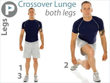 FitnessBuilder Crossover Lunge