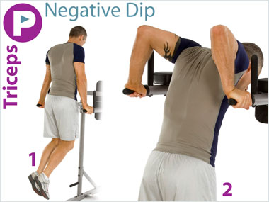 FitnessBuilder Negative Dip